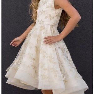 Jacqueline Dress in Gold Lace - Girls Size 8